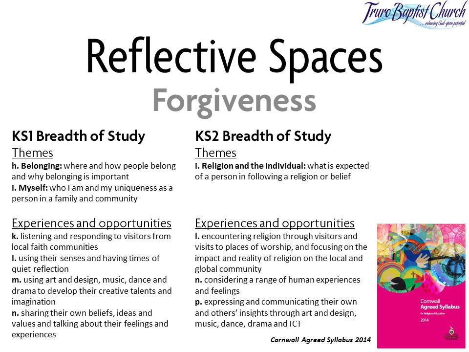 Reflective Spaces Forgiveness 1