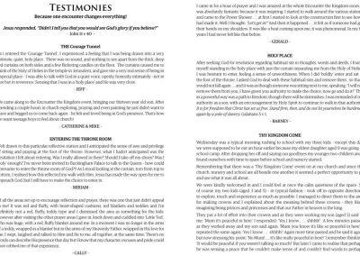 A Few Testimonies